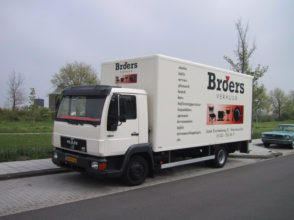 Broers vrachtwagen